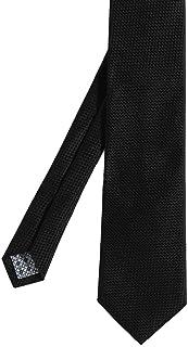 Hemley Hommes cravate en soie texturée Noir
