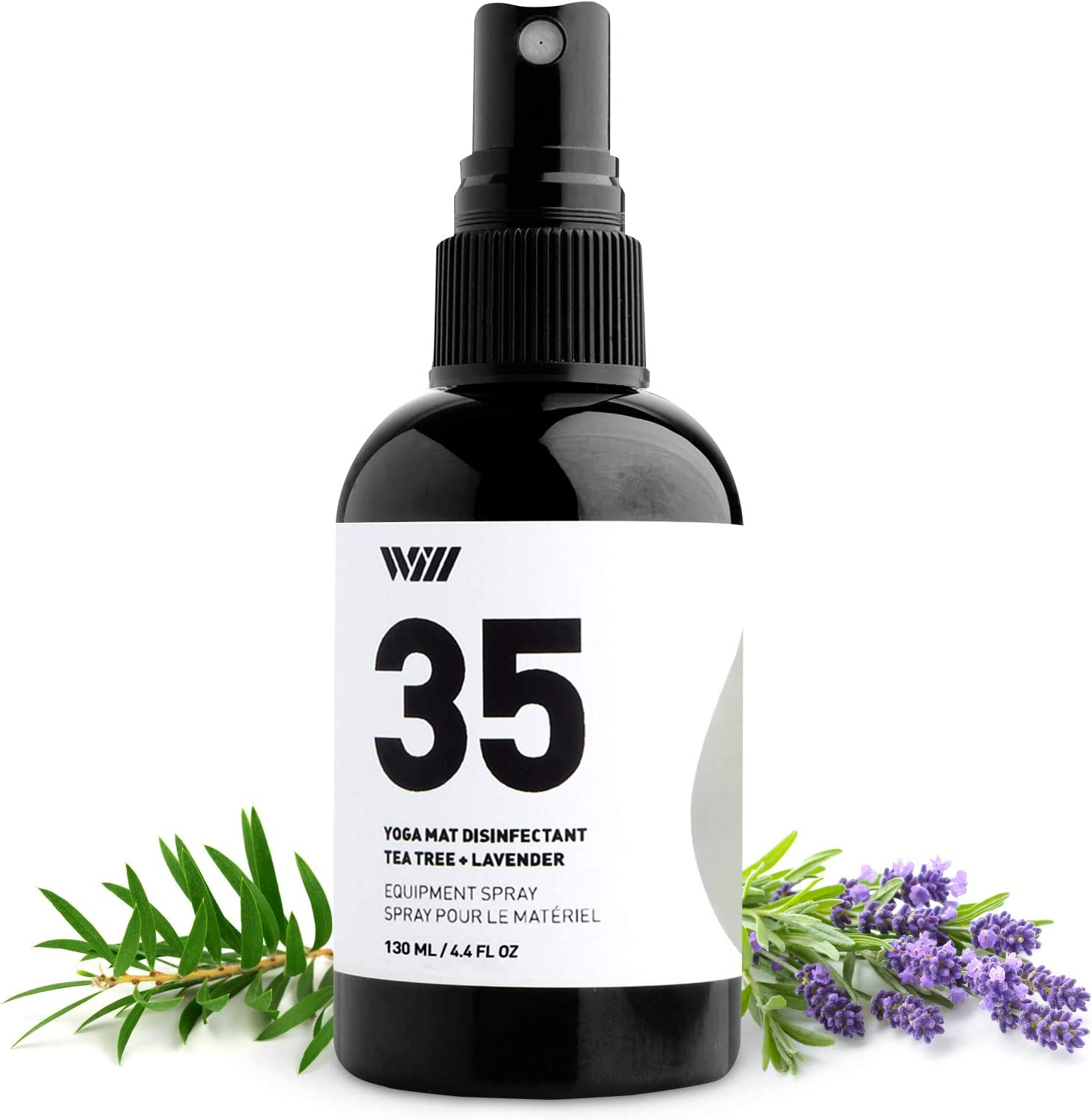 Way Of Will 35 Yoga Mat Spray, Essential Oil-Based All-Natural Ingredients Yoga Mat Cleaner Spray Tea Tree, Lavender, Peppermint Essential Oils