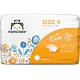 Amazon Brand - Mama Bear Best Fit Diapers Size 4, 36 Count, White Print [Packaging May Vary]