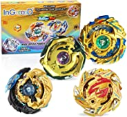 Ingooood Metal Master Fusion Gyro Toys for Kids, 4X High Performance Tops Attack Set with Launcher and Grip Starter Set and