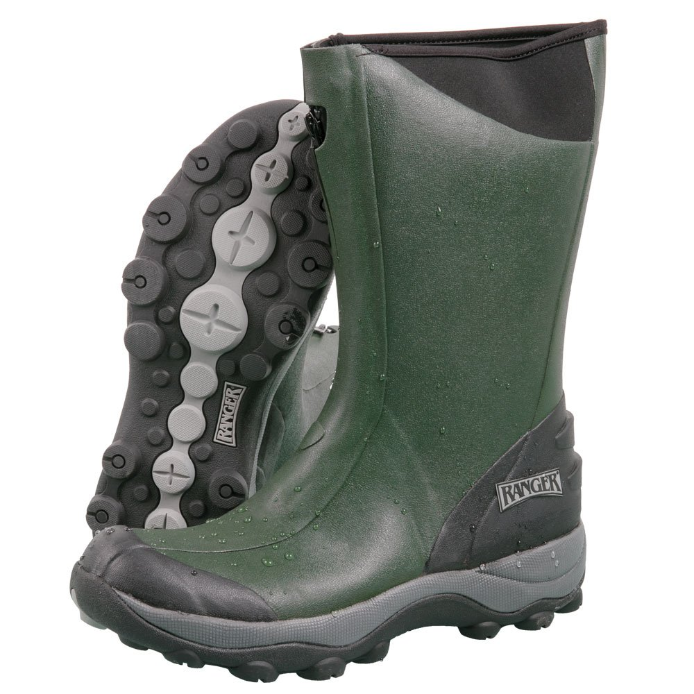 Ranger Pike Collection 13'' Men's Rubber Boots with 2 mm Neoprene Bootie, Black/Olive & Castlerock (R21812N)