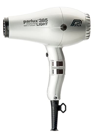 Parlux 385 Powerlight Ionic & Ceramic Silver Hair Blow Dryer