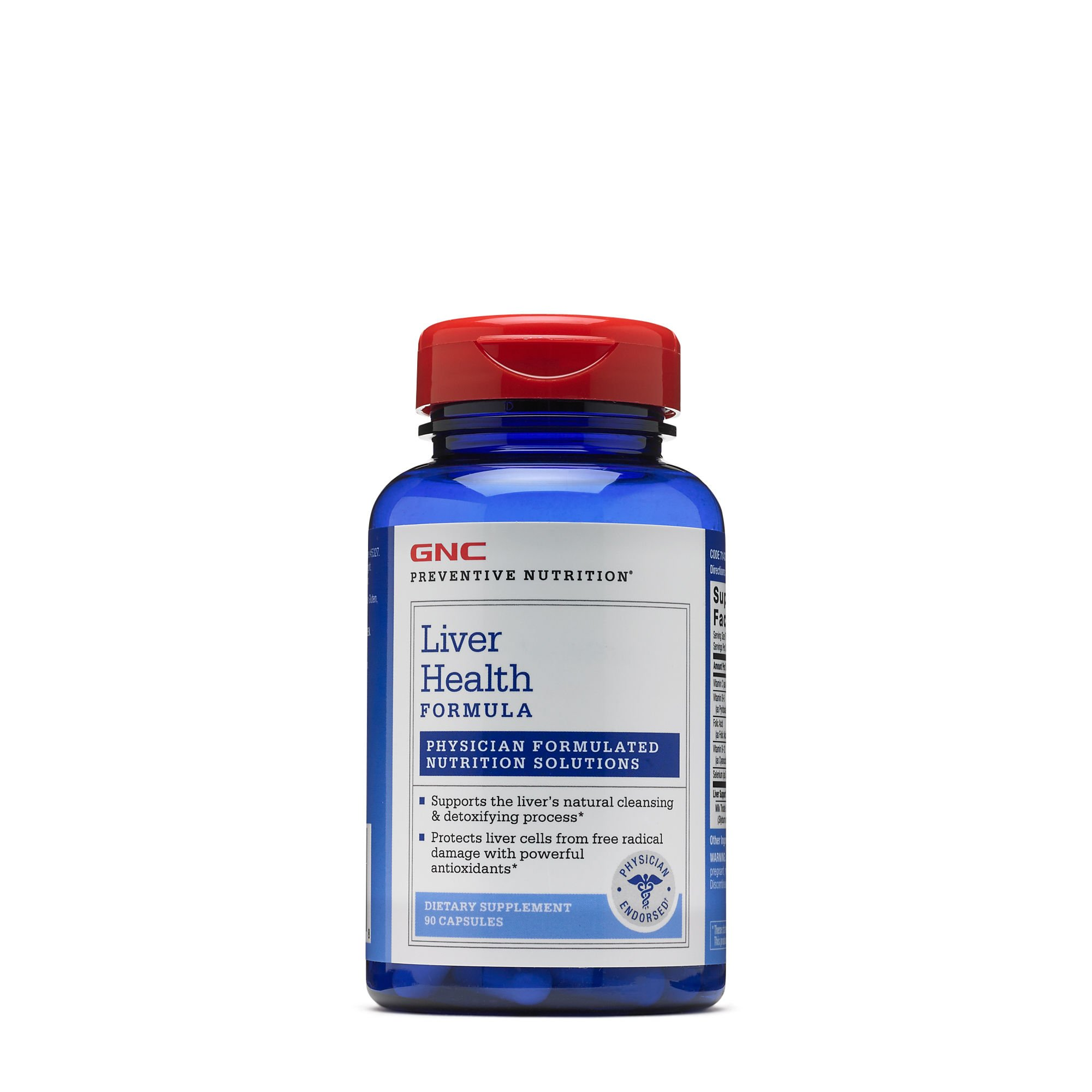 GNC Preventive Nutrition Liver Health Formula with Milk Thistle Extract, Antioxidants Metabolism Support