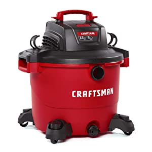CRAFTSMAN CMXEVBE17595 16 Gallon 6.5 Peak HP Wet/Dry Vac, Heavy-Duty Shop Vacuum with Attachments