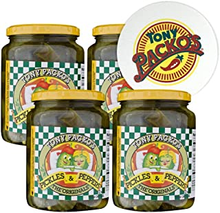 product image for Tony Packo's (4-Pack) The Original Pickles and Peppers, 24 Ounce Jars with Jar Opener