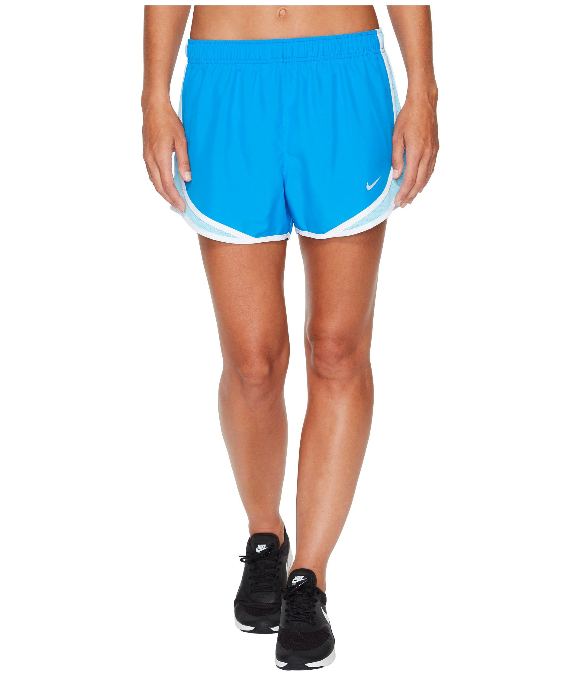 NIKE Womens Dry Tempo Running Short Light Photo Blue/Polarized Blue/Wolf Grey L