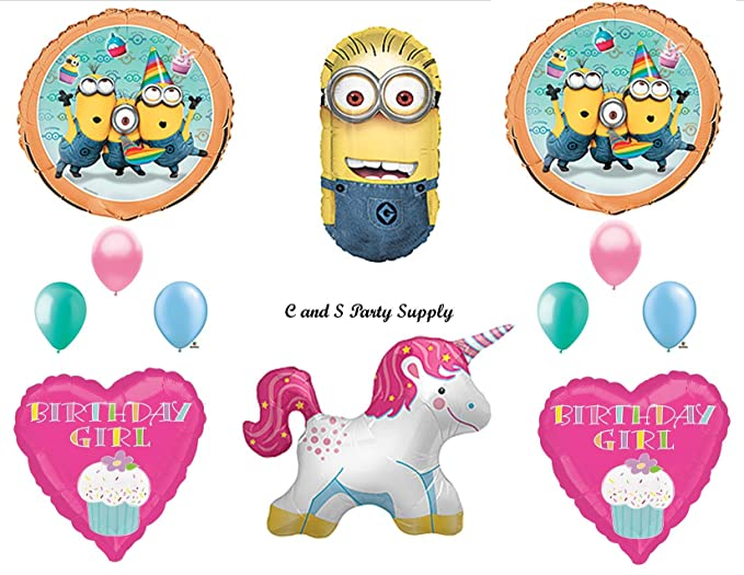 Amazon.com: Despicable Me Unicorn Minions Feliz cumpleaños ...