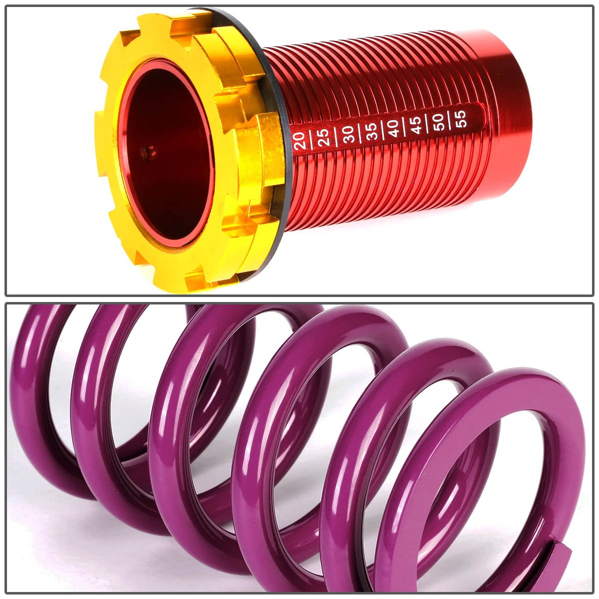 For 88-01 Honda Civic Del Sol CRX Acura Integra DNA Motoring COILHC88T11PP Coilover Sleeve Kit