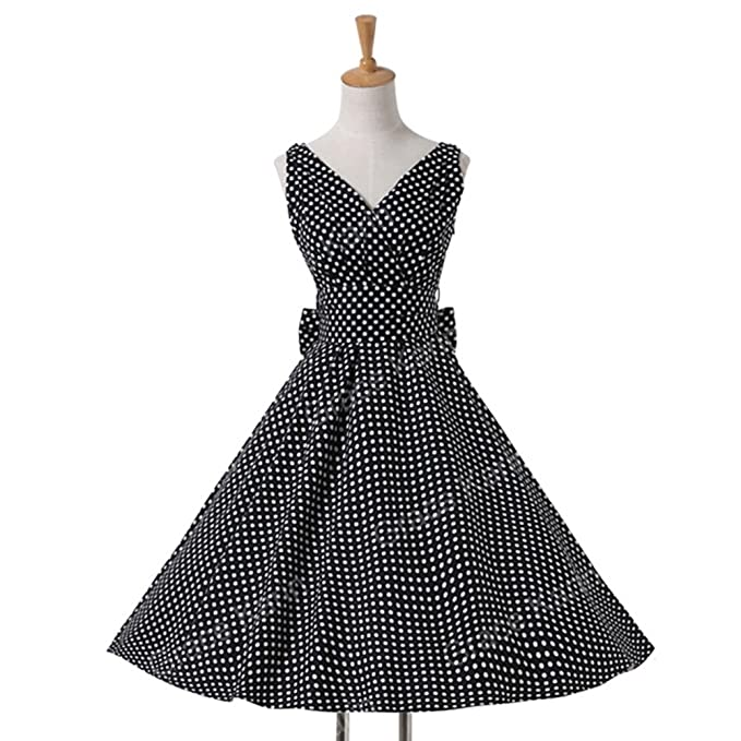 Mywine Womens Summer Dresses Women 50S 60S Robe Vintage Retro Pin Up ...