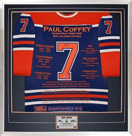 Paul Coffey Career Jersey  7 of 199 - Autographed - Edmonton Oilers ... 7f01d27e9