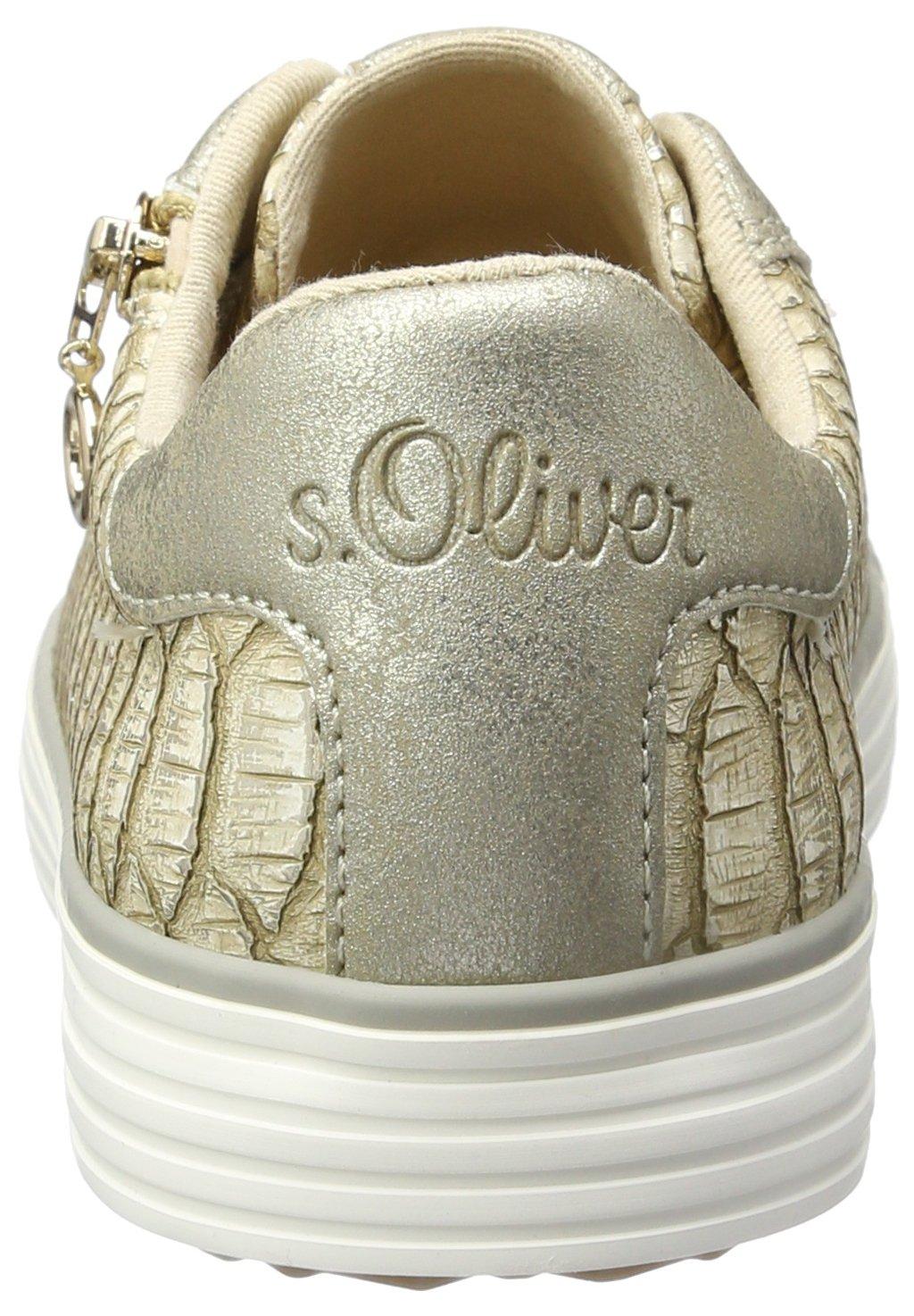 S.Oliver Damen 23615 Sneaker, Weißszlig;/silberfarben, 425) 50 EU Beige (Dune/Gold 425) Weißszlig;/silberfarben, 36dd87