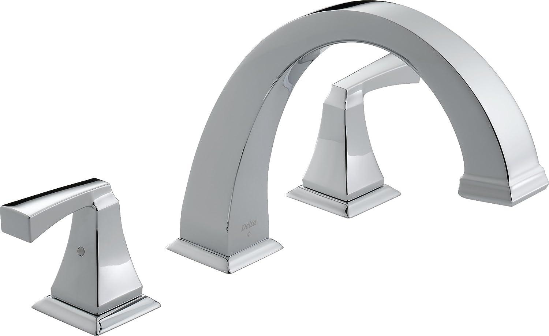 delta t2751 dryden roman tub trim chrome tub filler faucets amazoncom - Roman Tub Faucets