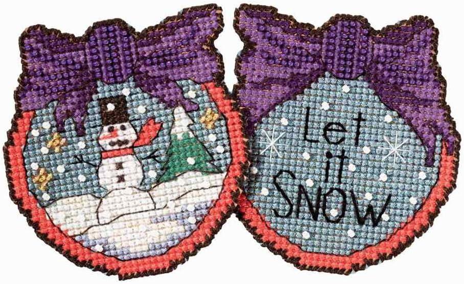MILL HILL STICKS Counted Cross Stitch Kit LET IT SNOW MAN ST18-1715