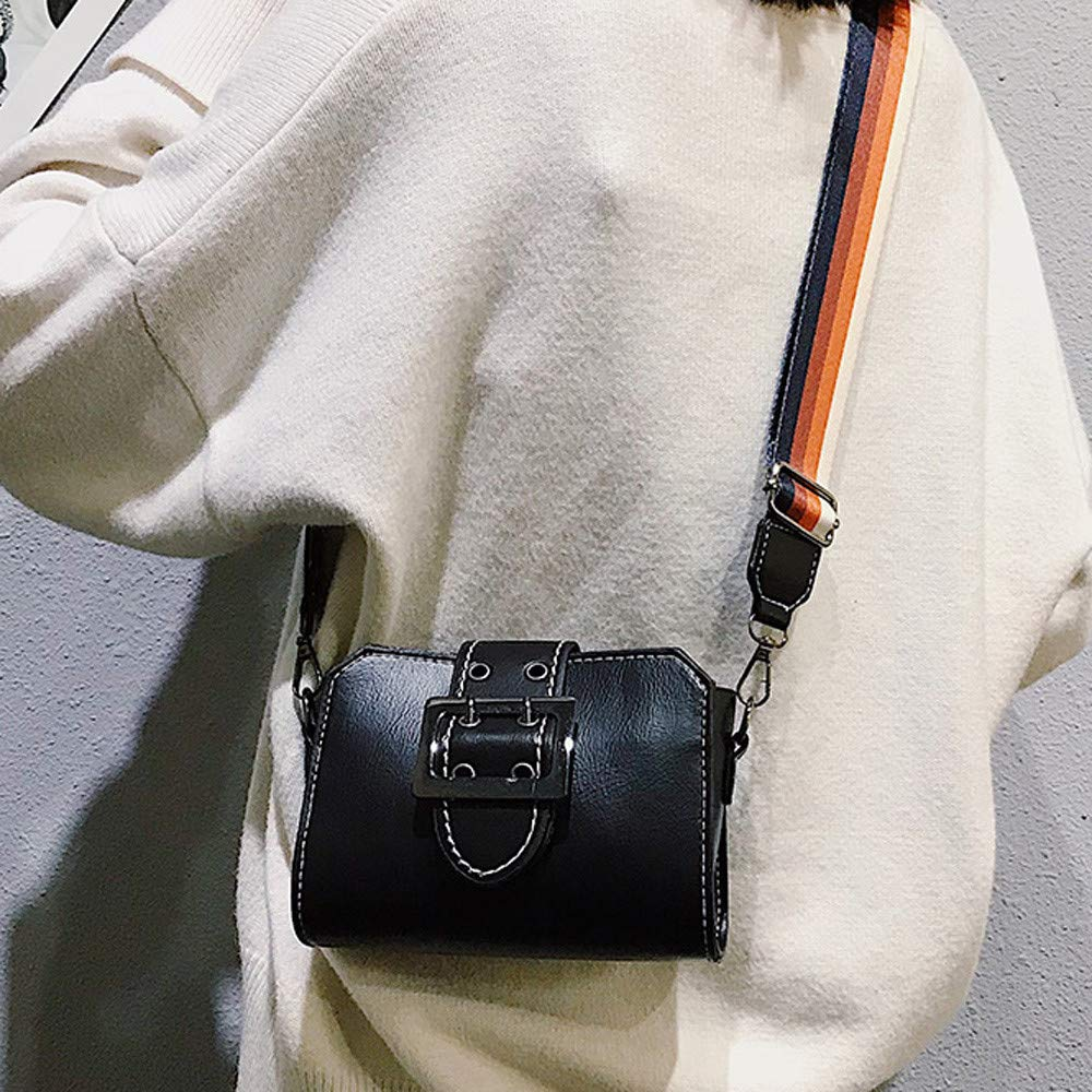 Amazon.com: Shoulder Bag for Women Retro Flap Bag Patent Leather Broadband Crossbody Bag,Rakkiss Black: Clothing