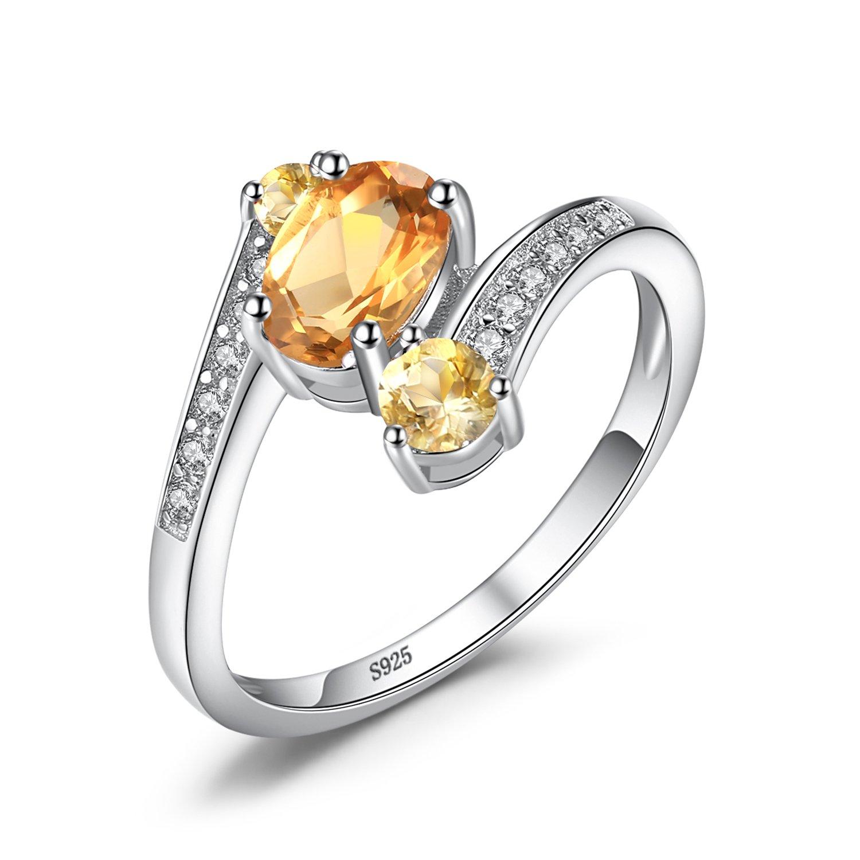 Jewelrypalace Moda Naturale Topazio Peridot Citrino Ametista Granato Anello Argento Sterling 925 EU-LR007204