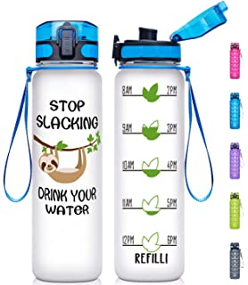 Amazon.com: Pretfarver 24oz Water Bottle with Motivational ...