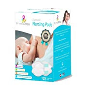 Primo Passi Disposable Nursing Pads for Women I Breast Pads Ultra Thin I 125 Count I Individually Wrapped I Leakproof I Contoured Fit I Natural Shape and Look I Soft & Breathable Material