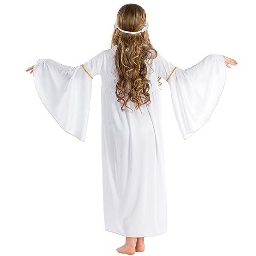 3-5 Jahre | Nr. 300426 TecTake dressforfun M/ädchenkost/üm Weihnachtsengelchen mit Trompeten/ärmeln und elastischem Haarband