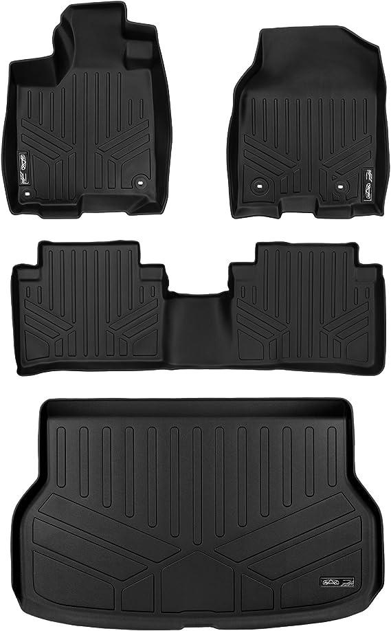 Black MAXFLOORMAT Floor Mats and MAXTRAY Cargo Liner for Acura RDX 2013-2017 Complete Set