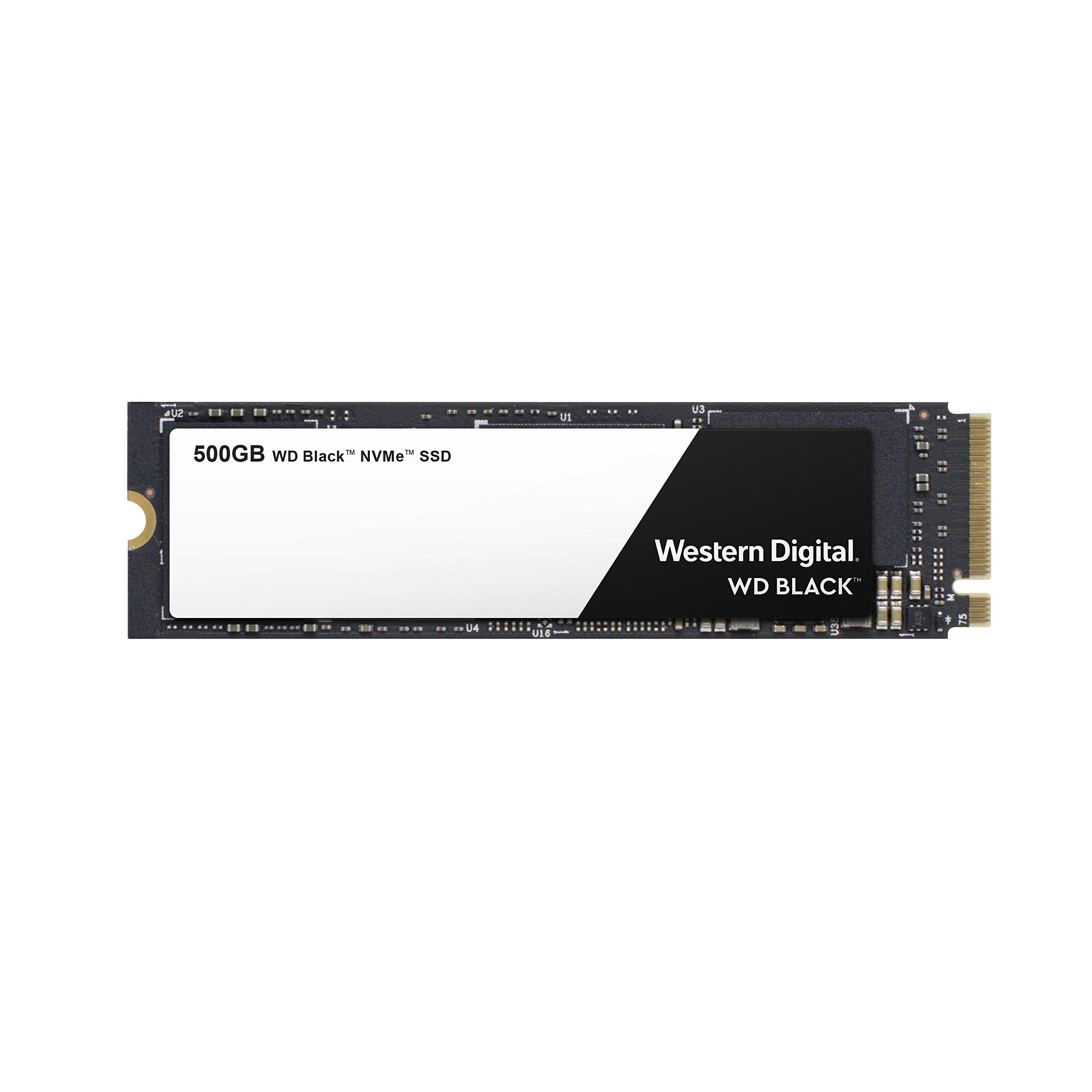 WD Black 500GB High-Performance NVMe PCIe Gen3 8 Gb/s M.2 2280 SSD -WDS500G2X0C