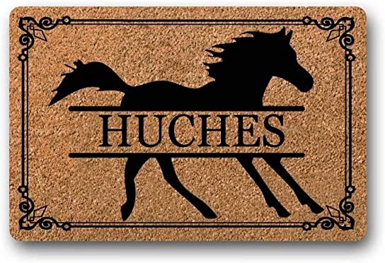 BXBCASEHOMEMAT Horse Personalized Doormat, Horse Doormat, Farm Doormat, Custom Doormat, Wedding Gift, Closing Gift, Housewarming Gift, Welcome Mat 18 x 30