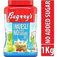 Bagrry's No Added Sugar Crunchy Muesli, 1000 GM, Jar