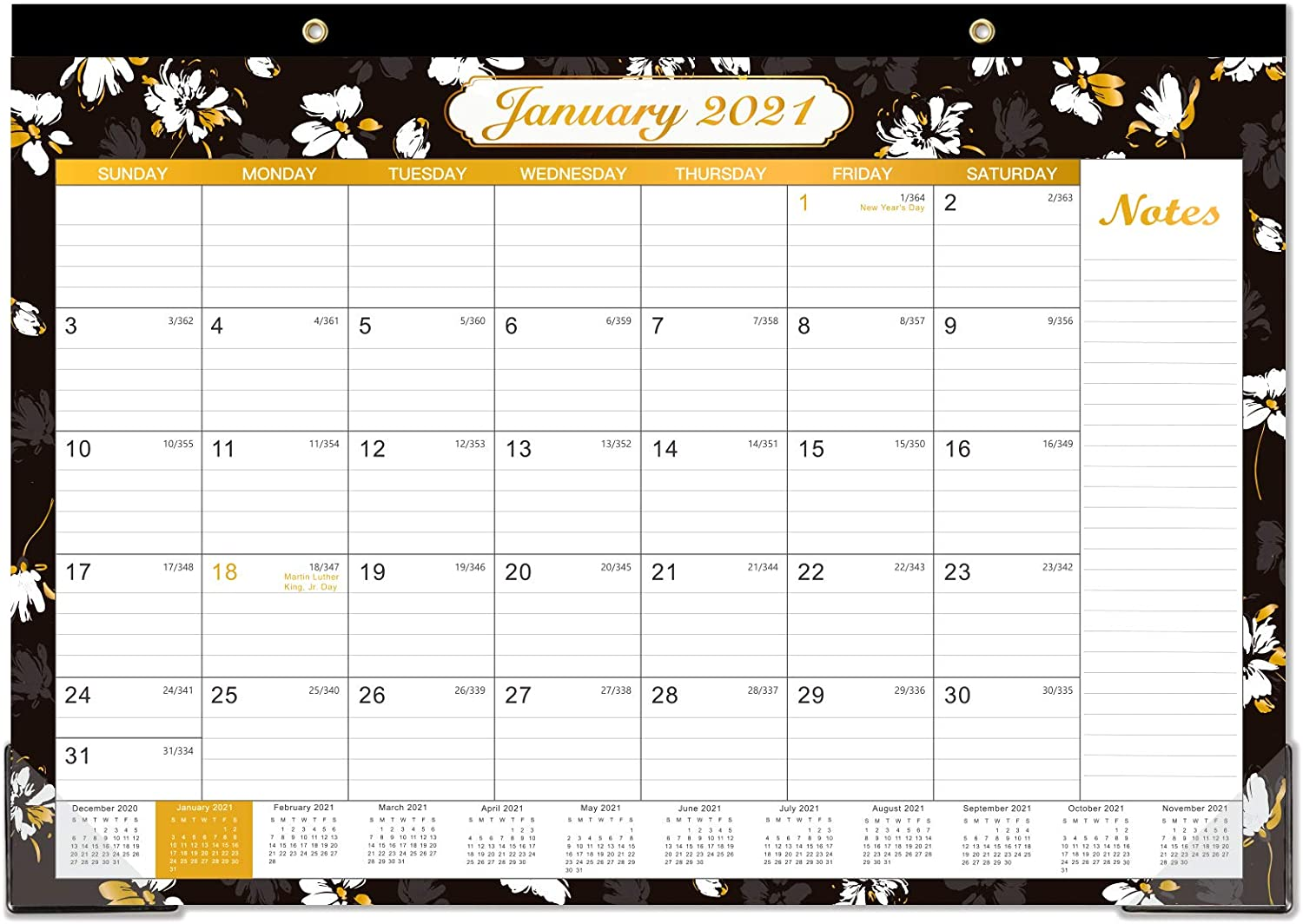Teacher Dec 2021 Student Ruled Blocks 2021 Desk Calendar Thick Paper for Planning and Organizing 17 x 12 Large Desk Pad Calendar for Office 12 Months Wall Monthly Calendar Jan 2021 Home