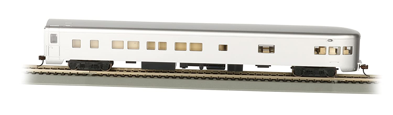 Bachmann IndustriesペイントUnletteredアルミsmooth-side観測車with Lighted内部( Hoスケール、85 ' B07281KCJS