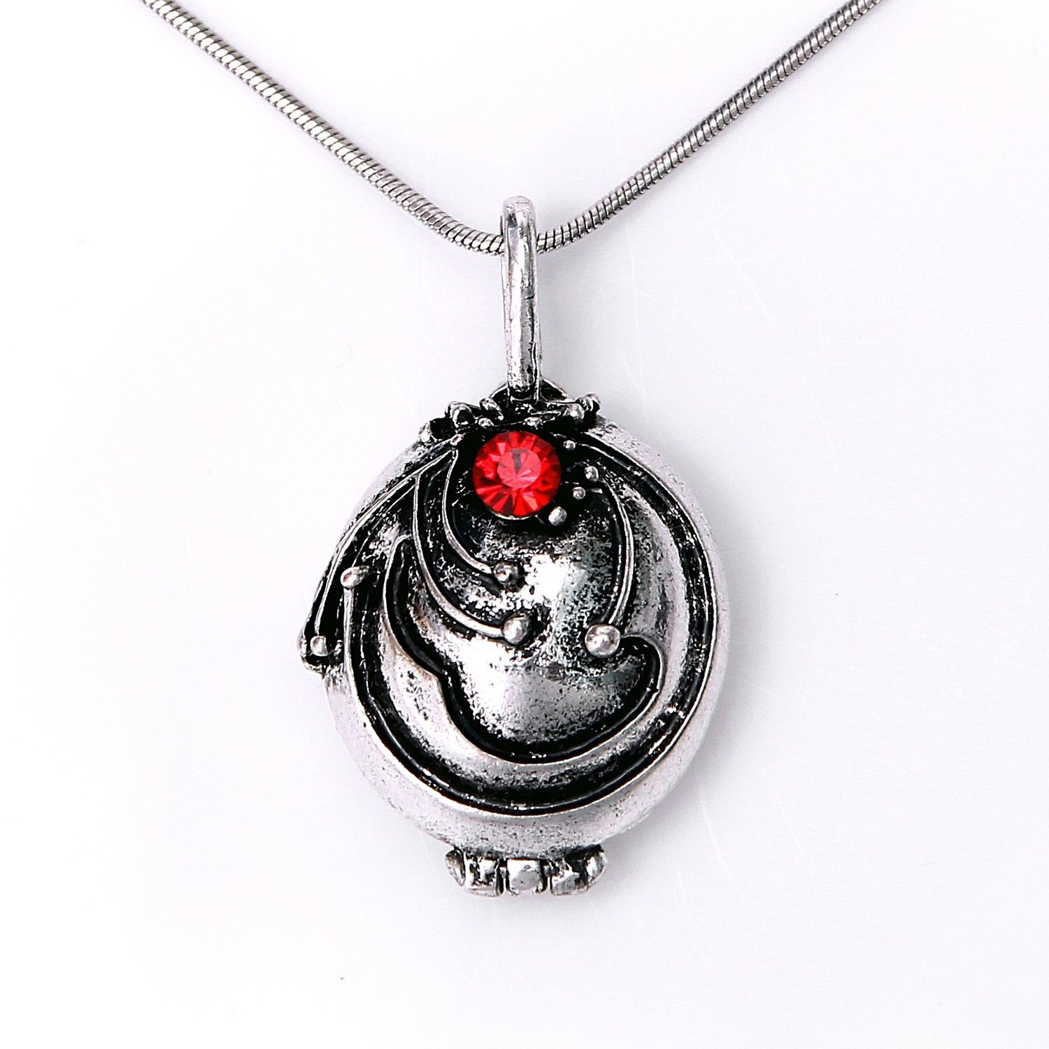 Elena's Vervain Pendant Anti-Vampire Silver Plated Necklace
