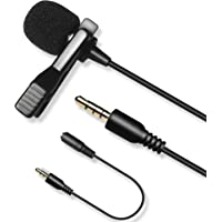 3M Cable Lavalier Lapel Microphone, Nicama LVM7 Omnidirectional Lapel Lav Mic for iPhone iPad Smartphone Recording…