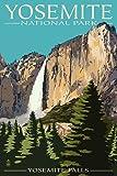 Yosemite Falls - Yosemite National Park, California (9x12 Art Print, Wall Decor Travel Poster)