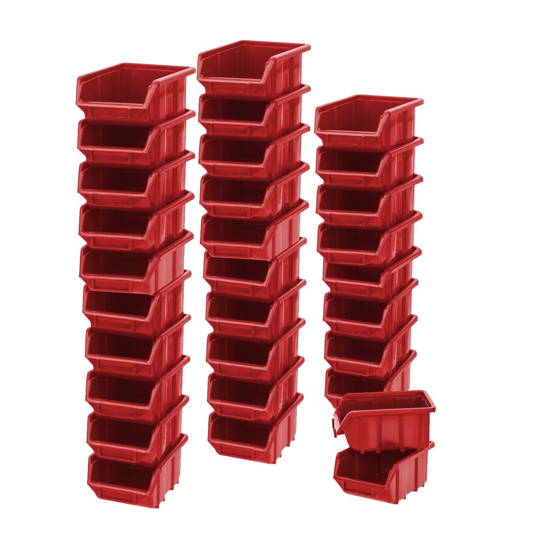 1 Stü ck Blau Sichtlagerkasten 1 Liter Wekstattkiste Stapelbox Lagerkiste Regalbox myBoxshop PL1-6043-007