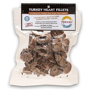 Fresh Is Best Turquía liofilizado cree corazón golosinas para perros y gatos, 3 redes de: Amazon.es: Bebé