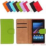 Bralexx Bookstyle Tasche für Sony Xperia Z1 Mini Compact grün