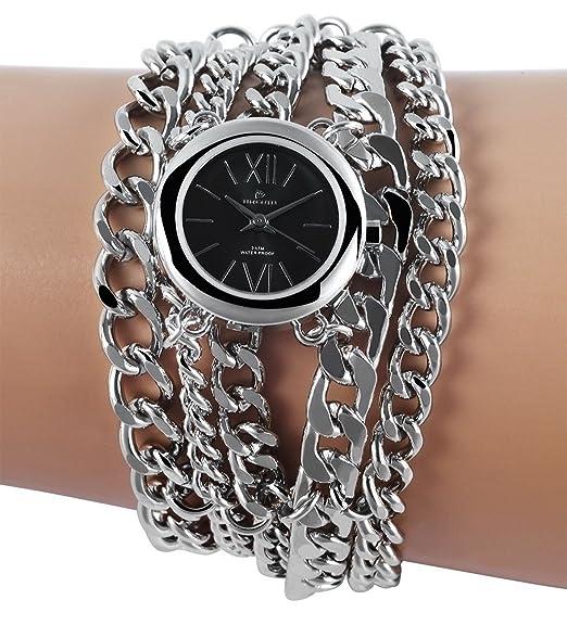 Reloj de pulsera de cuero de imitación con CLASSIX reloj blanco RP1262210003