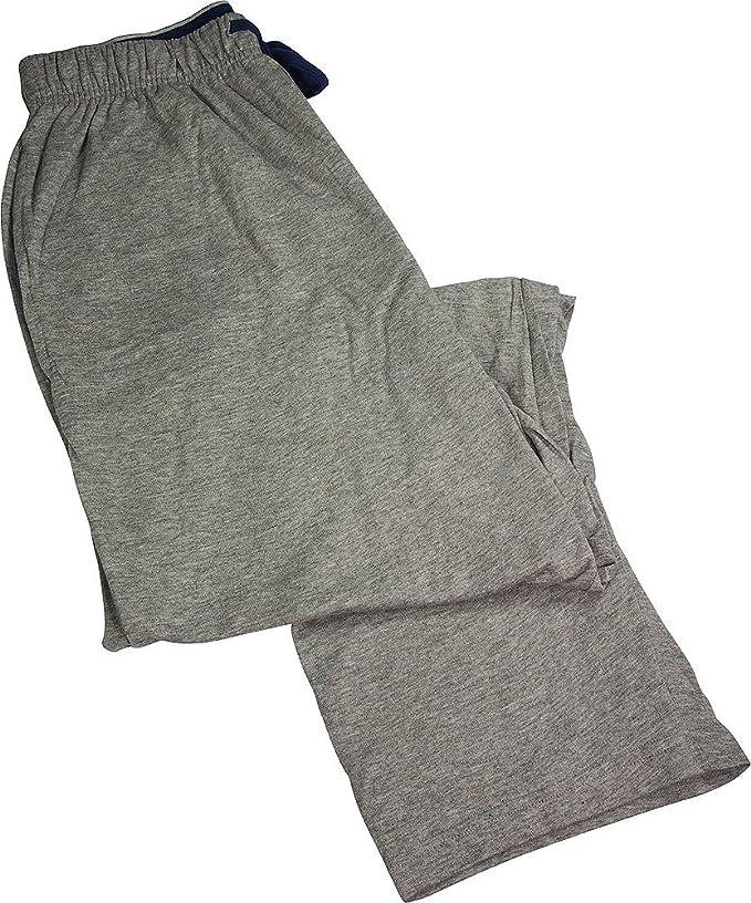 Hanes Hombres Cordón de Algodón de Dormir Pantalones de Pijama - Gris -: Amazon.es: Ropa y accesorios