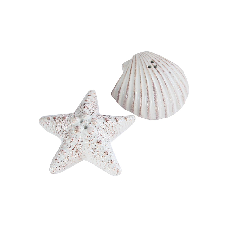 American Atelier Seashore Salt & Pepper Shakers, White