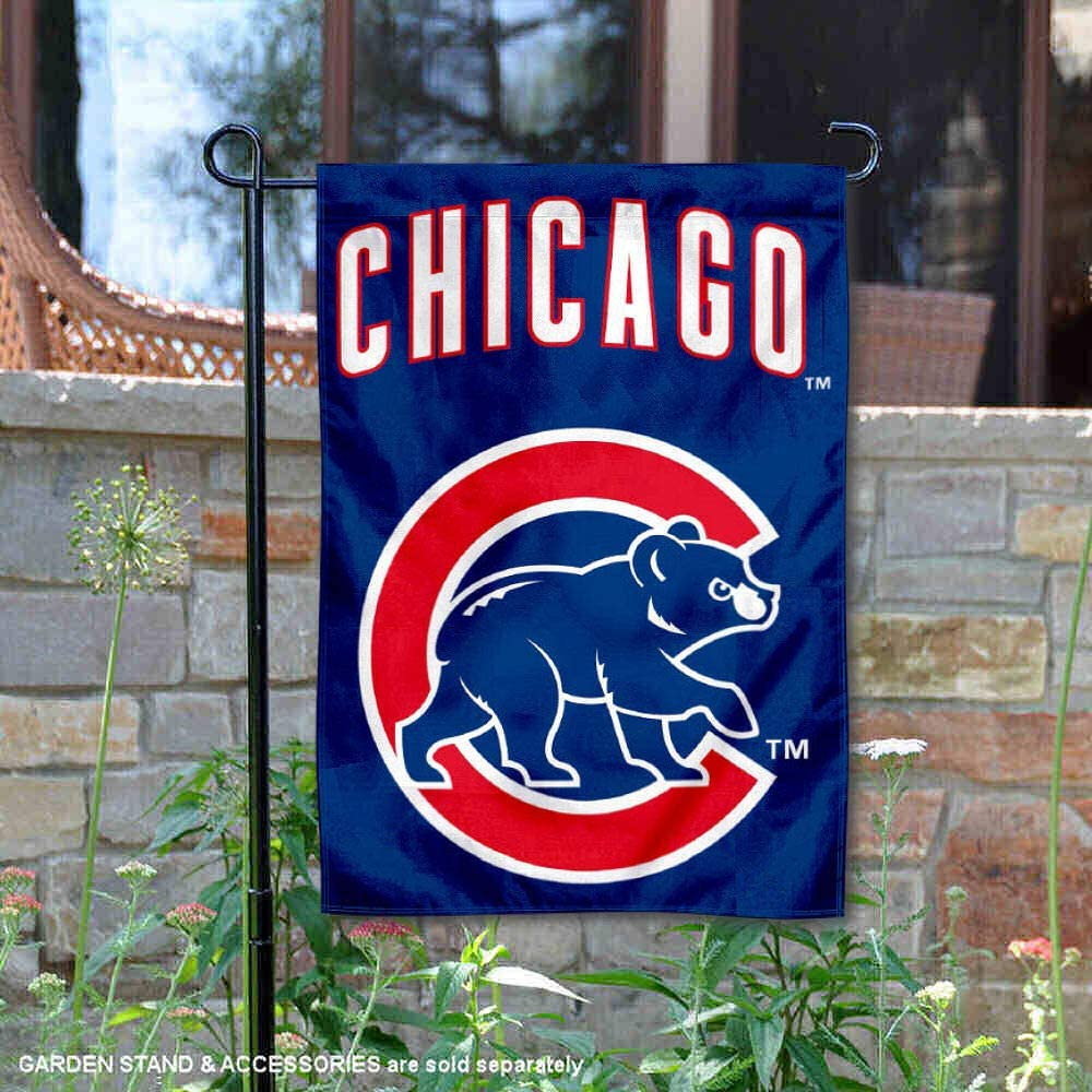 WinCraft Chicago Cubs Walking Bear Double Sided Garden Flag