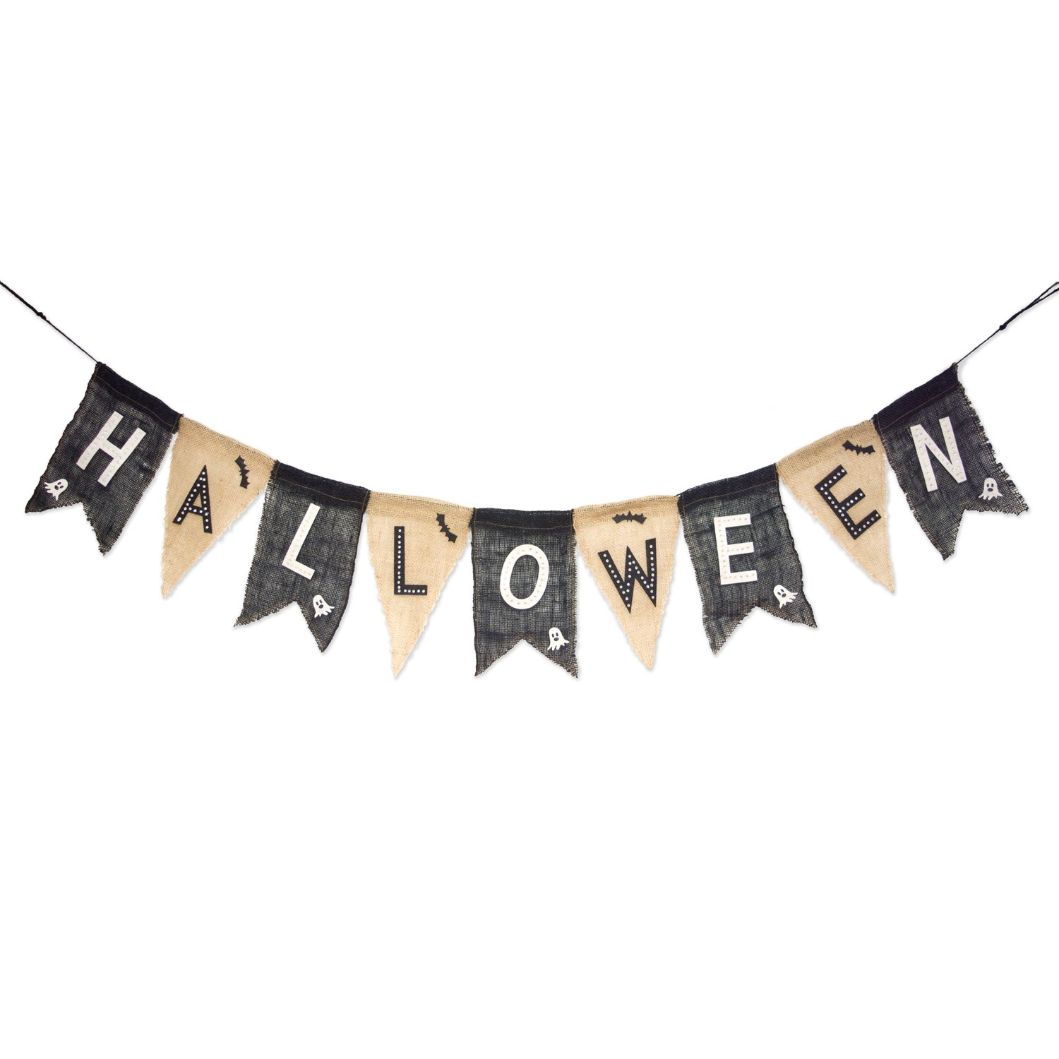 DII ''Happy Halloween Burlap Banner Wall Décor for Home, School, Office, Party Decorations