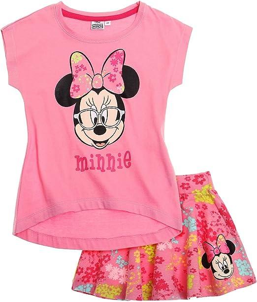 Disney Minnie Chicas Falda y Camiseta - Fucsia: Amazon.es: Ropa y ...