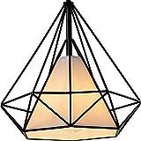 Diamond Shade Wrought Iron Chandelier - Battaa (2017 New Design) Industrial Pendant Lighting Vintage Hanging Modern Ceiling Loft Fixture Lamp for Indoor Kitchen Dining Room Bar Cafe 2-Year Warranty