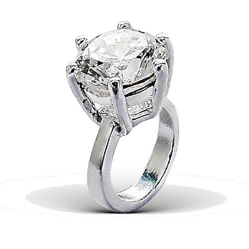 Impresionante anillo de compromiso Plata de Ley cuenta para pulsera – slide-on estilo Pandora