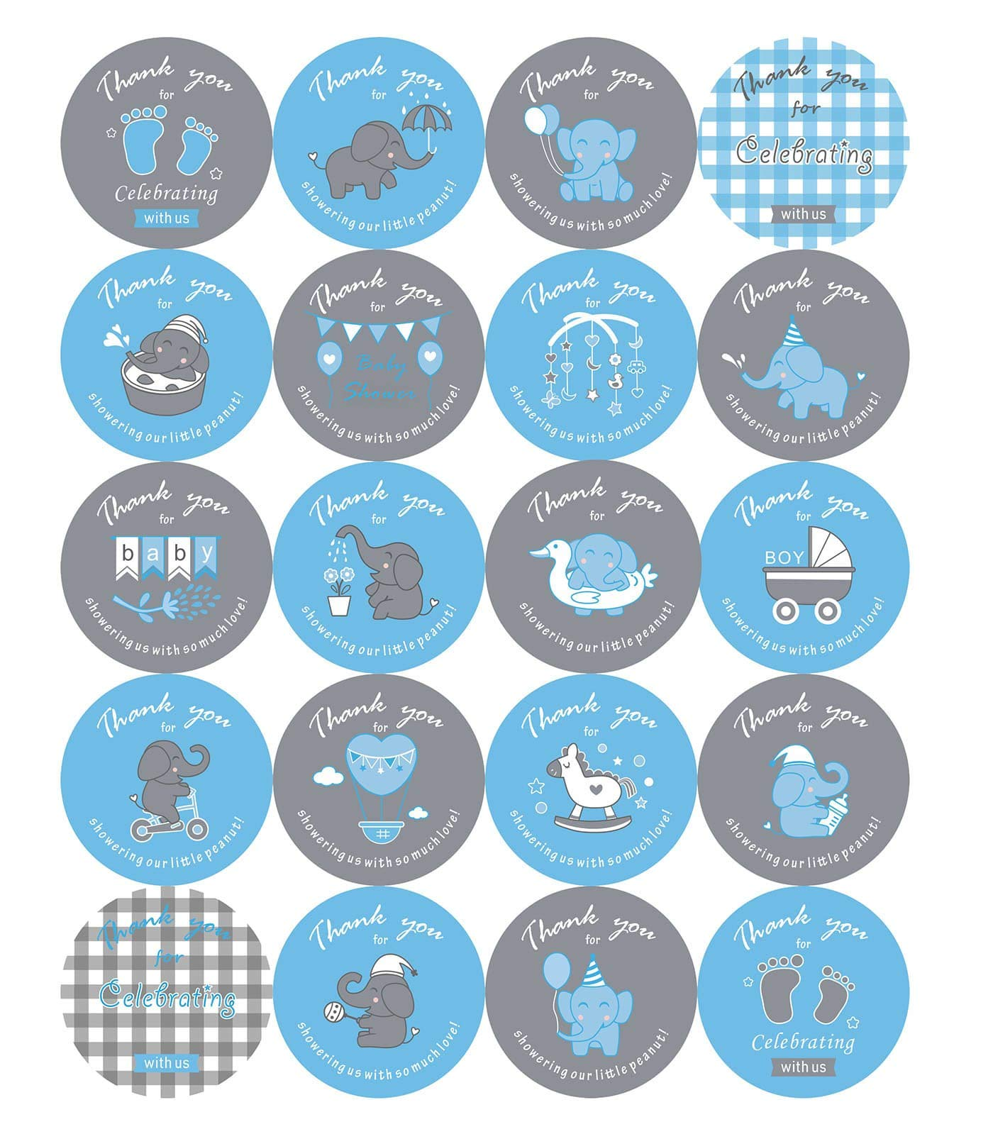 2 Inch Elephant Theme Baby Shower Thank You Stickers Baby Shower Favor Labels 100 Count Blue Buy Online In Botswana At Botswana Desertcart Com Productid 151535145