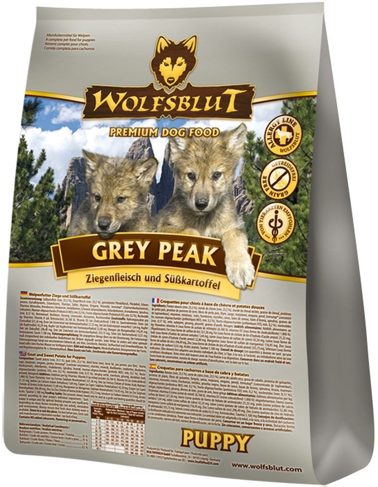Wolf sangre Grey Peak Puppy, 1er Pack (1 x 2 kg): Amazon.es: Productos para mascotas