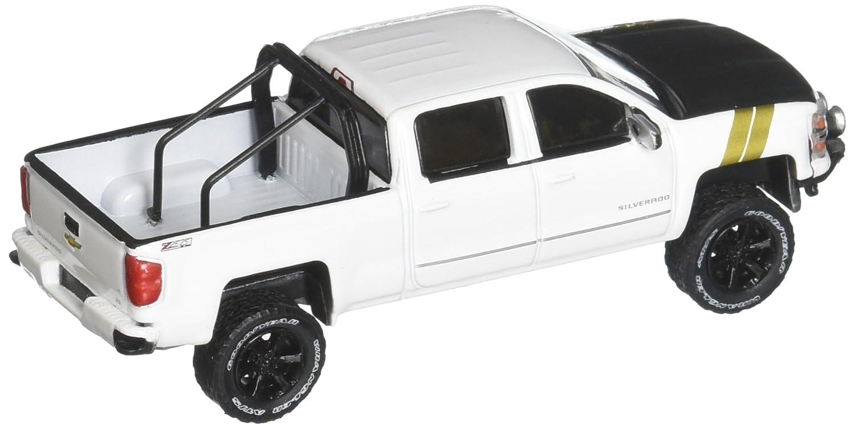 White 2015 Chevrolet Silverado Diecast Model Car by Greenlight New 1:64 GREENLIGHT All-Terrain Series 5 Collection