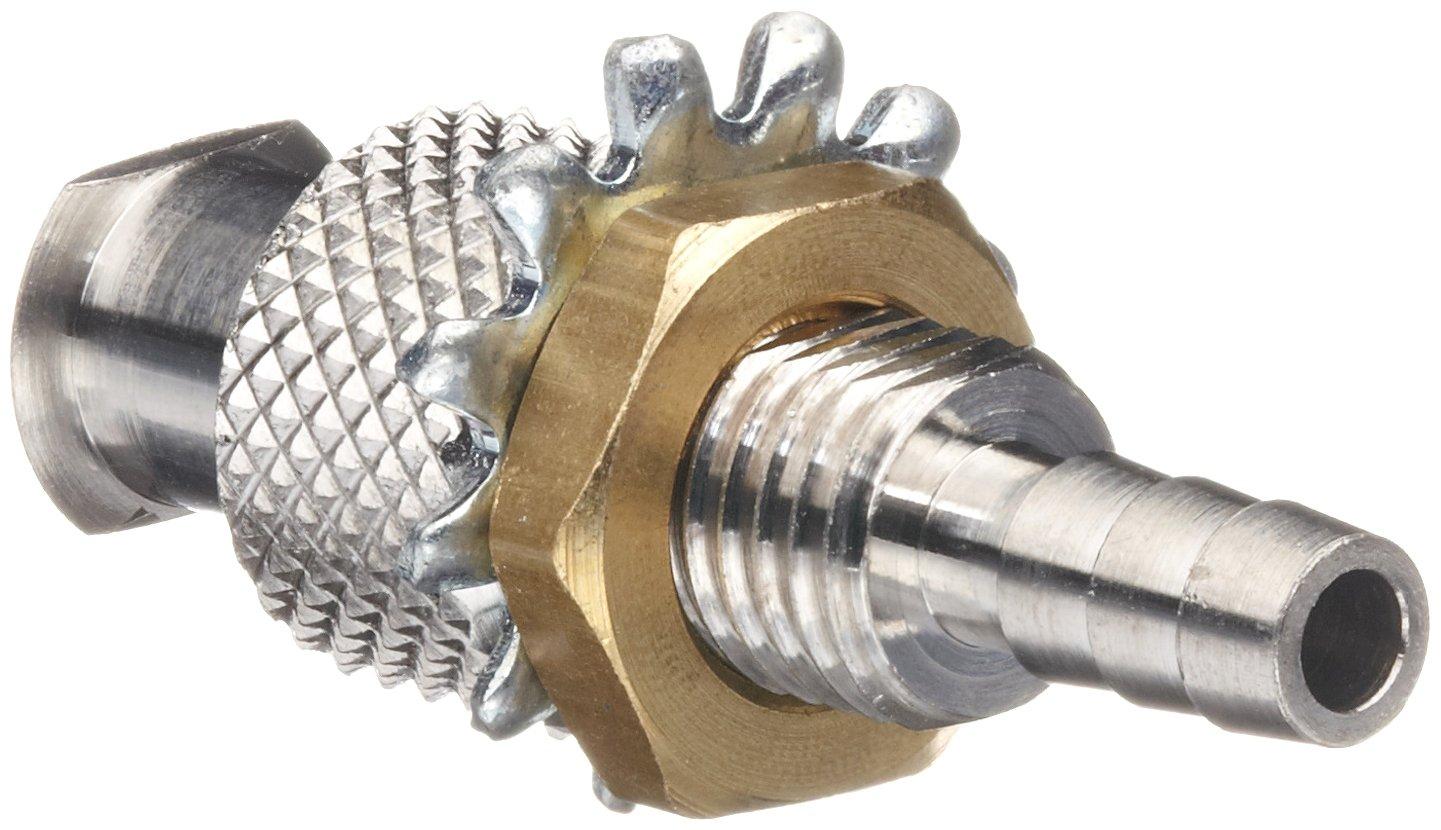 Luer 316 - Adaptador hembra de cabeza redonda de acero inoxidable ...
