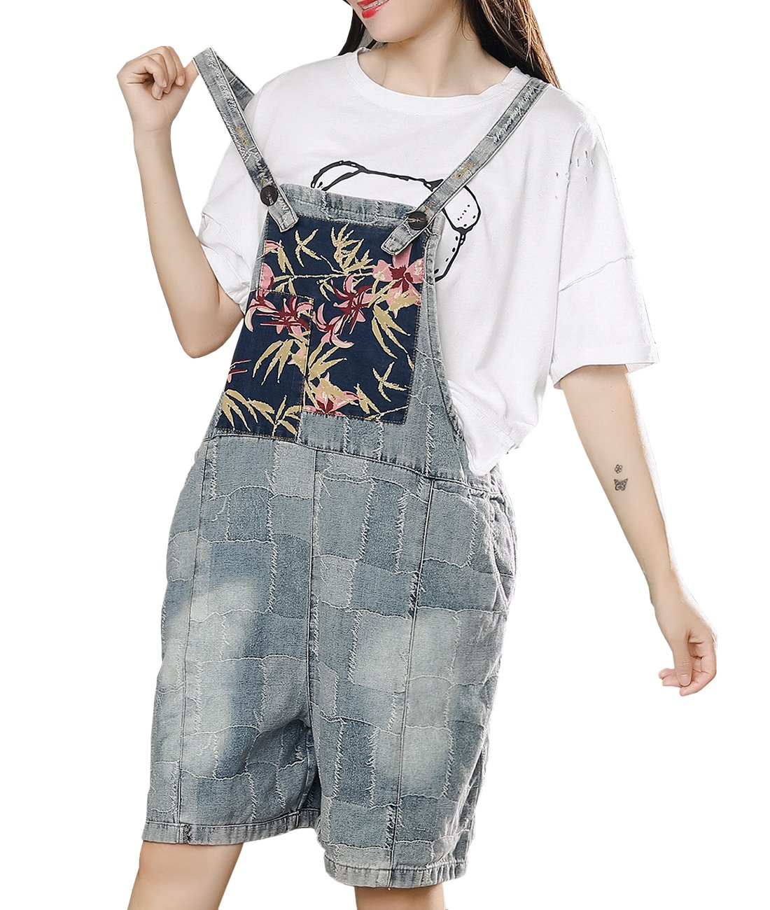 8f983498b1d YESNO P16 Women Fashion Casual Jumpsuits Rompers Denim Overalls ...