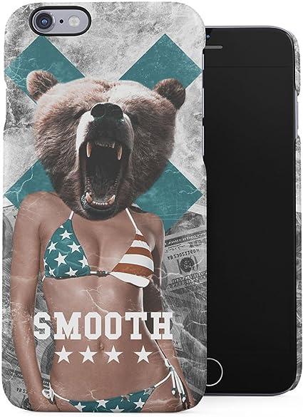 lisse sexy American Fille nue Ours Tête Plastique téléphone Snap ...