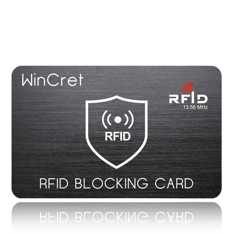 WinCret RFID Blocker NFC Schutzkarte - Stö rsender - Eine RFID Blocker Karte Blockiert Alle RFID/NFC-Signale von Kreditkarten, Personalausweis, Reisepass, EC-Karte