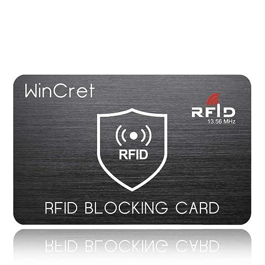rfid blocker karte WinCret RFID Blocker NFC Schutzkarte   Störsender   Eine RFID